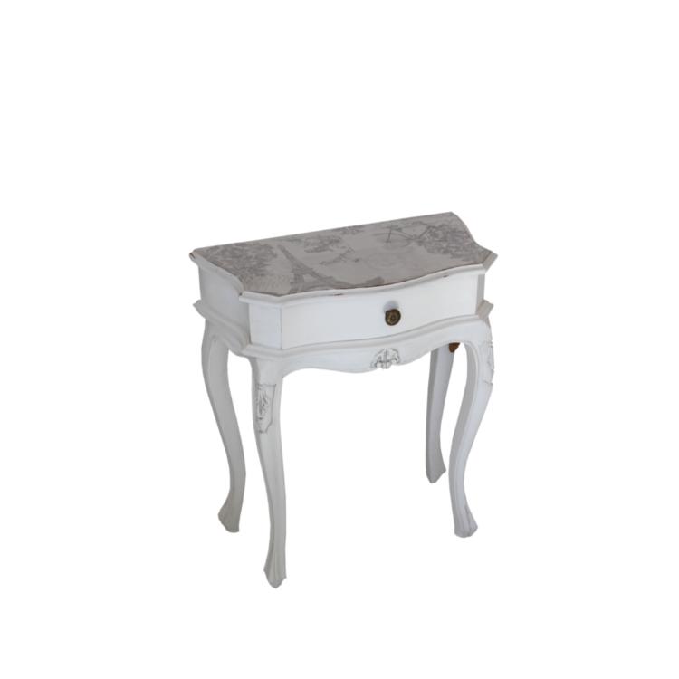 beistelltisch mit schublade im shabby chic stil von. Black Bedroom Furniture Sets. Home Design Ideas