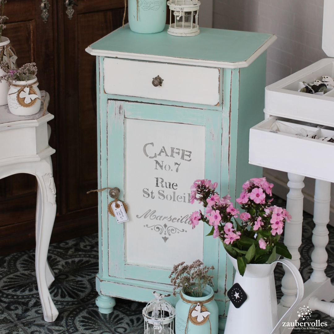 zaubervolles kreidefarbe shabby chic werkanleitung shabby chic look zaubervolles. Black Bedroom Furniture Sets. Home Design Ideas